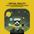 Virtual reality experience in flat design style Royalty Free Stock Photo