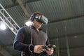 Virtual reality game on Kiev Plug-in Ukraine 2017 Exhibition.