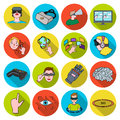 Virtual reality set icons in flat style. Big collection of virtual reality vector symbol stock illustration