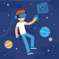 Virtual reality space Royalty Free Stock Photo