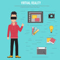 Virtual reality.The technologies for creative and idea team
