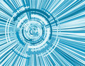 Virtual whirl blue digital ima Royalty Free Stock Photography