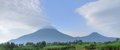 Virunga mountains panorama panoramic view around the in uganda africa Stock Photos