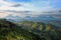 Virunga volcanos range viewed from nkuringo uganda Royalty Free Stock Images