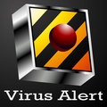 Virus Alert Button Stock Image