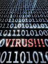 Virus in the binary code Royalty Free Stock Photo