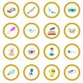 Virus cartoon icon circle