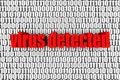 Virus détecté Images libres de droits