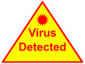 Virus detected an image of a sign Stock Photos