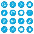 Virus icon blue
