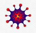Virus isolated icon. Microbe vector symbol. Computer virus, allergy bacteria, microbiology concept. Disease germ