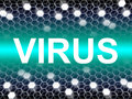 Virus word means preventive medicine and doctors indicating trojan Royalty Free Stock Images