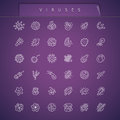 Viruses Thin Icons Set Royalty Free Stock Photo