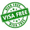 Visa free rubber stamp Royalty Free Stock Photo
