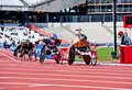 Visa London Disability Athletics Challenge Royalty Free Stock Photography