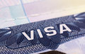 Visa in passport Royalty Free Stock Photo