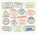 Visa passport stamp Royalty Free Stock Photo