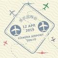 Visa passport stamp to Japan Royalty Free Stock Photo