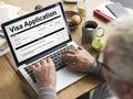 Visa Registration Form Application Concept Royalty Free Stock Photo