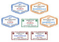 Visa stamps Royalty Free Stock Photo