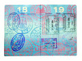 Visa Stamps Royalty Free Stock Photography