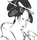 Visage 07 de geisha Photo libre de droits