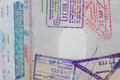 Visas in passport Royalty Free Stock Photo