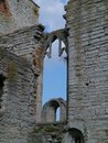 Visby on gotland in sweden ruin of the drotten church the island Stock Photos