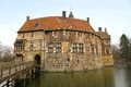 Vischering castle burg in luedinghausen north rhine westfalia is the most typical moated in the muenster area of germany Stock Photography