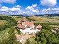 Viscri fortified Church in Transylvania Romania. Royalty Free Stock Photo