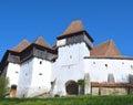 Viscri fortified church, in Transylvania, Romania Royalty Free Stock Photo