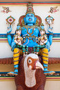 Vishnu on garuda statue of hindu god sitting Stock Image