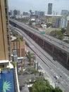 Visión desde el alto edificio en bangkok Foto de archivo libre de regalías