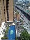 Visión desde el vigésimo piso alto buil Imagenes de archivo