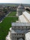 Visión en la parte superior de la torre de Pisa. Fotos de archivo libres de regalías