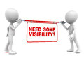 Visibility advertisement Royalty Free Stock Photography