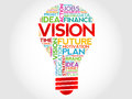 Vision bulb word cloud business concept Stock Images