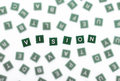 Vision - Clear Letters Against  Blurred Royalty Free Stock Photo