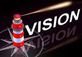 Vision d rendering of a lighthouse and a icon Stock Photos