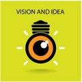 Vision and ideas sign eye icon light bulb symbol business concept illustration Stock Photo