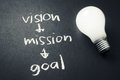 Vision mission goal Royalty Free Stock Photo