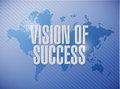 vision of success world map sign concept Royalty Free Stock Photo