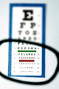Vision test for glasses Royalty Free Stock Image
