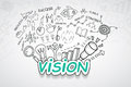 Vision text, With creative drawing charts and graphs business success strategy plan idea, Inspiration concept modern design templa Royalty Free Stock Photo