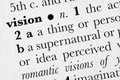 Vision word dictionary definit Stock Photos