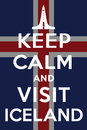 Visit iceland keep calm and vector graphic for many purpose Royalty Free Stock Photo