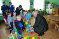 A visit by staff at a kindergarten in kaluga region of russia kindergartens often become the object attention administrative Royalty Free Stock Photography