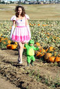 Visit to a Pumpkin Patch Royalty Free Stock Photos