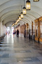 Visiting budapest the covered streets of pest neighborhood Royalty Free Stock Photography