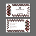 Visiting card or business card with a black and red diamonds
